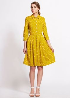 Yellow dress, great for fall!