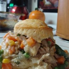 """Chicken Biscuit Pie 