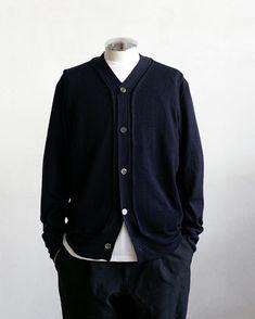 Knit Wear, Cardigan Fashion, Indigo, Mens Fashion, Colour, Costumes, Knitting, Simple, Winter