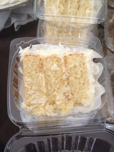 Our coconut cake slice!