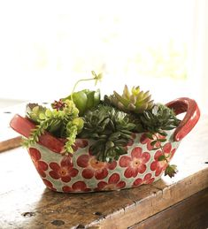 Ceramic Floral Bowl in Home Accents