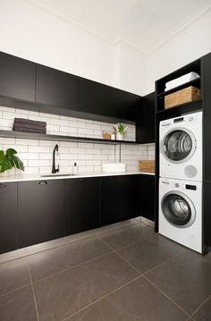 Darren Palmer's top laundry design tips - The Block Looking for your perfect laundry room design? Check out Darren Palmer's top laundry design tips for the perfect mix of fashion and functionality. Room Design, Laundry Mud Room, Basement Laundry Room, Room Remodeling, Laundry Room Tile, Room Tiles Design