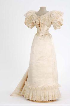Wedding Dress, circa 1890s