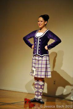 Kilt with purple jacket #milne #purple #tartan