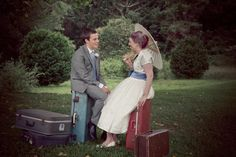 cool props for a 50's travel inspired wedding