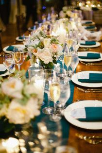 bright runner and napkins.  Style Me Pretty | Gallery