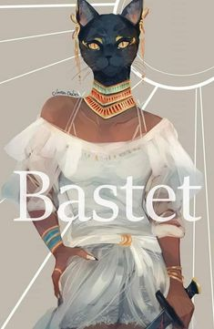 Bastet - Egyptian Goddess of Cats and Protection Egyptian Mythology, Egyptian Goddess, Goddess Art, Ancient Egyptian Art, Ancient Aliens, Ancient Greece, Ancient History, Bastet Goddess, Character Inspiration