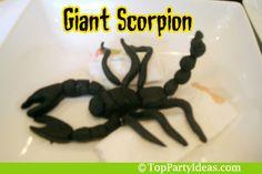Making an edible giant scorpion using fondant