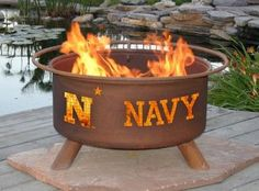Fire pits always seem to instantly become the center of a great get together. The US Naval Academy Midshipmen Fire Pit by Patina Products is no exception, designed to be the centerpiece of your tailga
