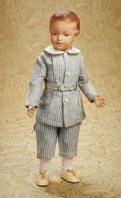 The Well-Bred Doll: 200 American Wooden Boy by Schoenhut,Model 205,in Fine Original Condition