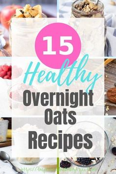 Super healthy breakfast ideas right here! Give these awesome and easy overnight oats recipes a try for a filling weekday breakfast. Make Ahead Breakfast, Breakfast Bowls, Healthy Breakfast Recipes, Breakfast Ideas, Healthy Recipes, Delicious Recipes, Free Recipes, Healthy Eating, Vegetarian Breakfast