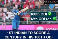 Shikhar Dhawan marks his 100th ODI with his 13th 100 in the format #SAvIND #INDvSA #PinkODI - facebook.com/MyCricketTrolls