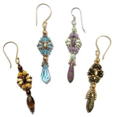 Free Beading Pattern: Dragonfly Earrings | Bead-Patterns