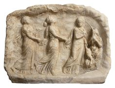 Marble votive relief in the shape of a cave, from Sparta (Laconia) or Megalopolis (Arcadia) 330-320 BC.