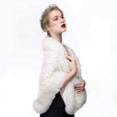 Women's Faux Fur Shawl Wrap Cape for Bridal Wedding Party Ivory | Winter Wedding Ideas -- Click image for more details. (This is an affiliate link) #WinterWeddingIdeas