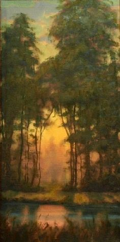 ~ Michael Orwick - Ancient Silhouettesk, oil on panel