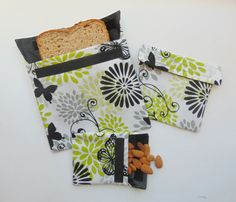 Reusable Snack and Sandwich Bags Reusable Snack by Shoppebylola
