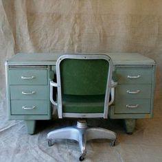 love this metal desk vintage industrial office chair l