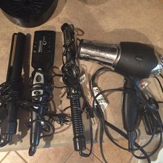 Hair tools 1 revlon flat iron, 1 revlon hairdryer, 1 Remington flat iron & 1 clairol curling iron.  All used a few times, but in great UC. Other