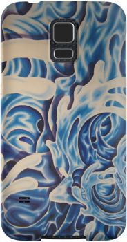 Custom art phone skin/cover! #phone, #art, #waves, #water, #cover