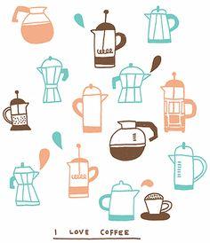 i love coffee Coffee Talk, Coffee Spoon, I Love Coffee, Coffee Break, My Coffee, Chocolate Cafe, Decoupage, Coffee Illustration, Latte Art