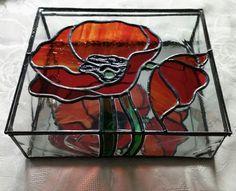 Stained glass poppy box.