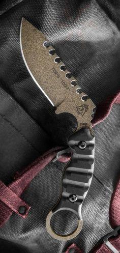 TOPS Knives 1027 Sawback Karambit Fixed Blade Knife