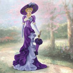 ... Beauties Lady Figurines by Thomas Kinkade - Burning Desires Gifts