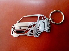 Mazda 3 Sedan Personalized Key Chain Car by GuestFromThePast Mazda 3 Sedan, Registration Plates, Customized Gifts, Personalized Items, Super Cars, Bike, Stainless Steel, Zoom Zoom, Key Chains