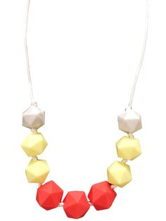 Sydney Bold Gelb Zahnen-Halskette