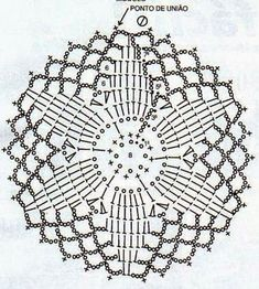 Crocheted motif no. 1617 - Her Crochet Crochet Dreamcatcher Pattern, Mandala Au Crochet, Crochet Motifs, Crochet Blocks, Freeform Crochet, Crochet Stitches Patterns, Doily Patterns, Crochet Chart, Crochet Squares