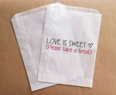 Candy Buffet Bags Wedding Favor Bags Candy di prettypaperparlor, $25.00
