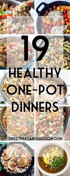 19 Healthy One-Pot Dinners | sweetpeasandsaffr... @Denise | Sweet Peas & Saffron