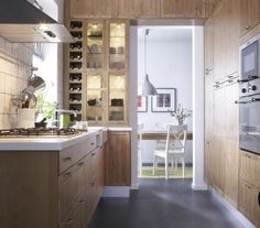 Scullery sliding door and some open shelving house ideas pinterest other open shelving for Petite cuisine design ikea