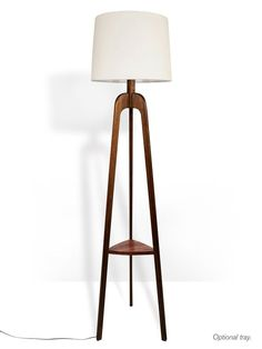 Floor Lamp Danish Modern Tripod with Tray Lamp Cord, Mid Century Modern Lighting, Wood Lamps, Table Lamps, Console Table, Modern Floor Lamps, Tripod Lamp, Interior Exterior, Danish Modern
