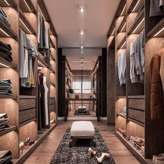 38 Wonderful Walk In Closet Design Ideas With Low Budget - Have you ever considered how much walk in closet designs could improve your life and save you time? How many of you have had one of those mornings, yo. Wardrobe Room, Wardrobe Design Bedroom, Closet Bedroom, Shoe Closet, Wardrobe Storage, Dressing Room Closet, Dressing Room Design, Luxury Wardrobe, Luxury Closet