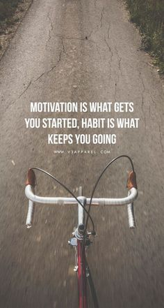 Motivation is what gets you started,habit is what keeps you going. Head over to www.V3Apparel.com/MadeToMotivate to download this wallpaper and many more for motivation on the go! / Fitness Motivation / Workout Quotes / Gym Inspiration / Motivational Quot #Keepingmotivatedforfitness