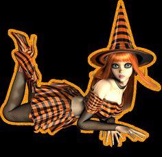halloween sexy witch photo: WitchOrangeGlittter WitchOrangeGlittter.gif
