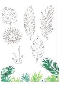 Free tropical printables from Papercraft Inspirations 167 - Papercraft Inspirati. Free tropical printables from Papercraft Inspirations 167 - Papercraft Inspirations Free tropical printables from Papercraft Inspiration. Paper Flowers Diy, Flower Crafts, Diy Paper, Paper Crafts, Leaves Template Free Printable, Templates Free, Free Printables, Papier Kind, Decoration Creche