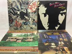 Daryl Hall & John Oates Vinyl Record Lot of 4 Record Albums - Private eyes, etc.