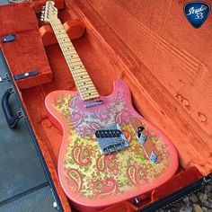 Here's something a little different; a paisley #telecaster from @kylefarrell1 #teletuesday #studio33guitar