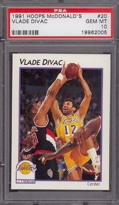 1991 Hoops McDonald's #20 Vlade Divac Lakers PSA 10 pop 7 by Hoops. $6.00. 1991 Hoops McDonald's #20 Vlade Divac Lakers PSA 10 pop 7. If multiple items appear in the image, the item you are purchasing is the one described in the title.