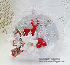 christmas card ornament tag with deer Christmas Card Crafts, Christmas Cards To Make, Christmas Makes, Christmas Baubles, Christmas Tag, Xmas Cards, Christmas Projects, Handmade Christmas, Holiday Cards