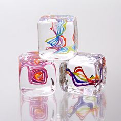 Squarbles: Nicholas Kekic: Art Glass Paperweights - Artful Home  Love this....Christmas present idea