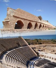 Caesarea, Israel. Here Herod Agrippa let the people call him a god, and was struck down and eaten by worms.
