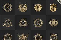 32 Luxury logo set (PSD) by Super Pig Shop on @creativemarket