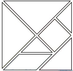Piezas tangram para colorear