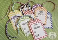 FREE Printable Gift Tags - Live Creatively Inspired