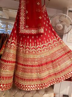 Beautiful Red Lehenga by Anita Dongre ? Indian Bridal Wear, Indian Bridal Lehenga, Indian Wear, Bride Indian, Bridal Mehndi, Indian Weddings, Indian Style, Indian Dresses, Indian Outfits