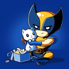 The Purrfect Gif t-shirt Marvel TeeTurtle